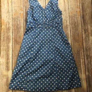 Boden blue dotted dress